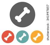 dog bone icon | Shutterstock .eps vector #341997857