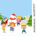 vector illustration of kids... | Shutterstock .eps vector #341997977