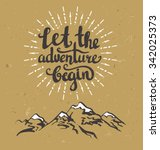 vector vintage card with... | Shutterstock .eps vector #342025373