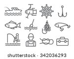 fishing line icons