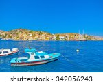 traditional small fishing boats ... | Shutterstock . vector #342056243