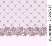 seamless  lace  floral  ... | Shutterstock .eps vector #342067157