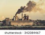 smokestack in factory  polution | Shutterstock . vector #342084467