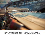 long conveyor belt transporting ... | Shutterstock . vector #342086963