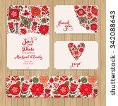 wedding invitation template ...   Shutterstock .eps vector #342088643
