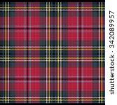 knitted plaid tartan pattern   Shutterstock .eps vector #342089957