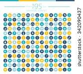 195 universal website icon set... | Shutterstock .eps vector #342090437