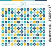 90 universal website icon set... | Shutterstock .eps vector #342090467