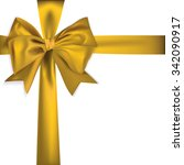 golden ribbon isolated on white ... | Shutterstock .eps vector #342090917