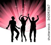 dancing in the night   lots of... | Shutterstock .eps vector #342092567
