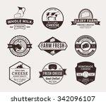 set of cheese logo templates... | Shutterstock .eps vector #342096107