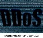 ddos in digital background  | Shutterstock . vector #342104063