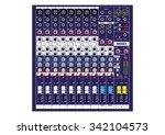 8 channels music mixer vector