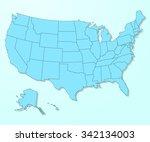 usa blue map on degraded...   Shutterstock .eps vector #342134003