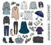 vector illustration of packing... | Shutterstock .eps vector #342134987