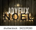 glowing christmas word noel... | Shutterstock .eps vector #342139283