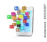 icon app fall in smart phone | Shutterstock . vector #342142307
