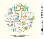 internet technology and... | Shutterstock .eps vector #342143447