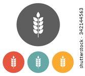 wheat icon | Shutterstock .eps vector #342144563