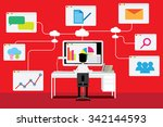vector concept of wireless... | Shutterstock .eps vector #342144593