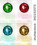 christmas ornament set. vector... | Shutterstock .eps vector #342152573