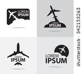 Four Different Airplane Logo...