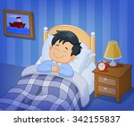 cartoon smile little boy... | Shutterstock .eps vector #342155837