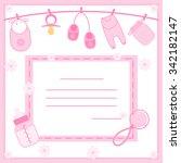 vector illustration of baby... | Shutterstock .eps vector #342182147