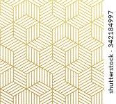 geometric gold glittering... | Shutterstock .eps vector #342184997