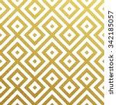 Stock vector geometric gold glittering seamless pattern on white background 342185057
