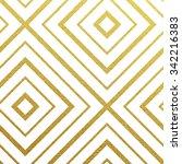 geometric gold glittering... | Shutterstock .eps vector #342216383