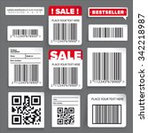 barcode label and sale vector... | Shutterstock .eps vector #342218987