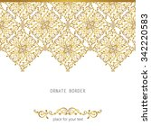 vector decorative frame.... | Shutterstock .eps vector #342220583