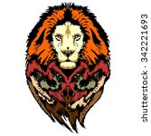 lion pop art wild look | Shutterstock .eps vector #342221693