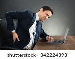 young businessman suffering... | Shutterstock . vector #342224393