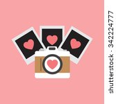 love photo camera with hearts | Shutterstock .eps vector #342224777