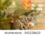 christmas decoration on the... | Shutterstock . vector #342228623