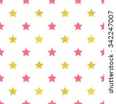 pink and gold stars seamless... | Shutterstock .eps vector #342247007