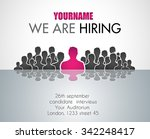 we are hiring background for... | Shutterstock .eps vector #342248417