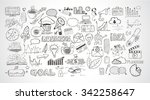 business doodles sketch set  ... | Shutterstock .eps vector #342258647