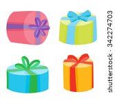 christmas or birthday presents... | Shutterstock .eps vector #342274703
