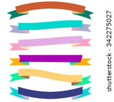 varicolored vector ribbon... | Shutterstock .eps vector #342275027