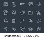 marketing icons | Shutterstock .eps vector #342279143