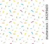 confetti seamless pattern.... | Shutterstock .eps vector #342293603