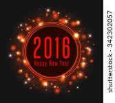 happy new year text 2016 poster ... | Shutterstock .eps vector #342302057