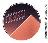 vector illustration of mountain ... | Shutterstock .eps vector #342307073