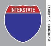 blank american interstate...   Shutterstock .eps vector #342308597