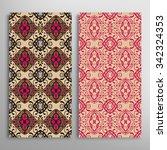 set of 2 vertical seamless... | Shutterstock .eps vector #342324353