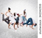 people dancing street dance | Shutterstock . vector #342342533