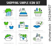 shopping simple icon set | Shutterstock .eps vector #342346937